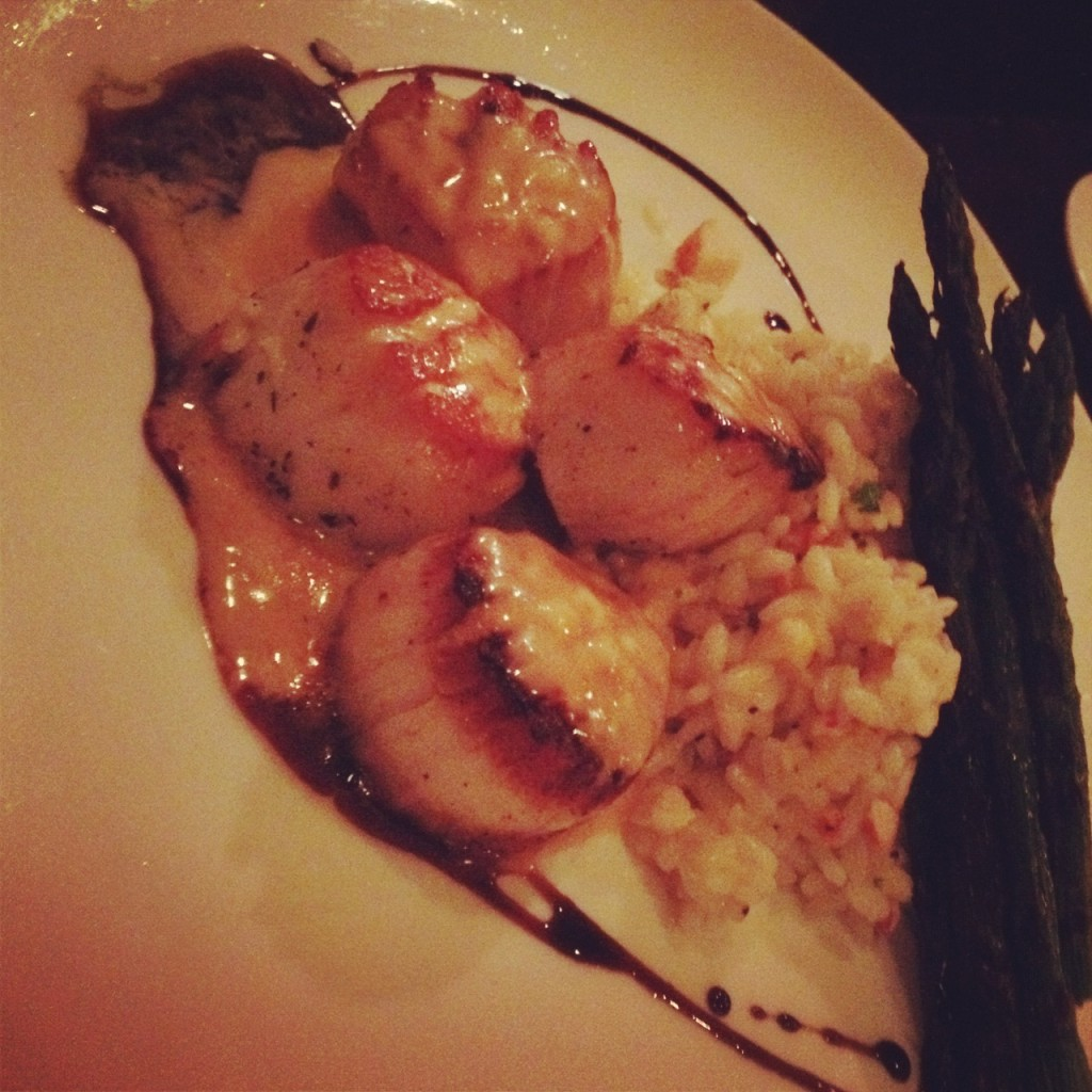 Scallops and lobster risotto