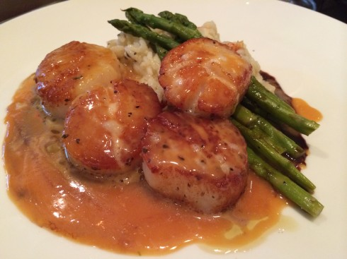 blood orange scallops