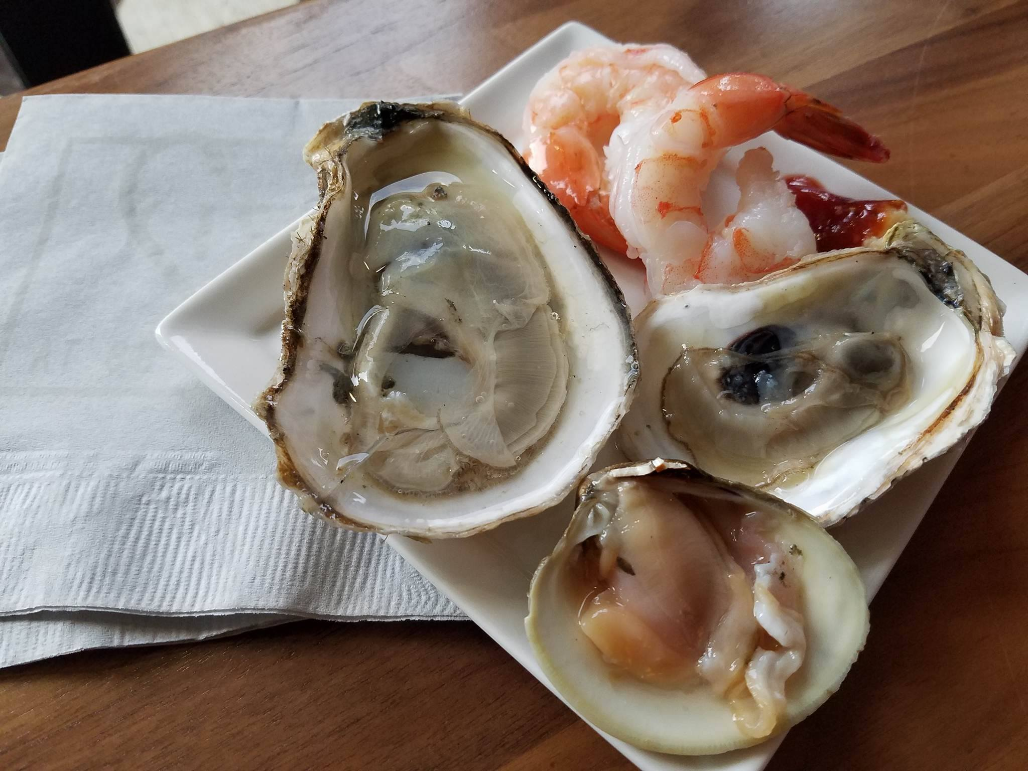 From the Raw Bar at Fish at 30 Lake