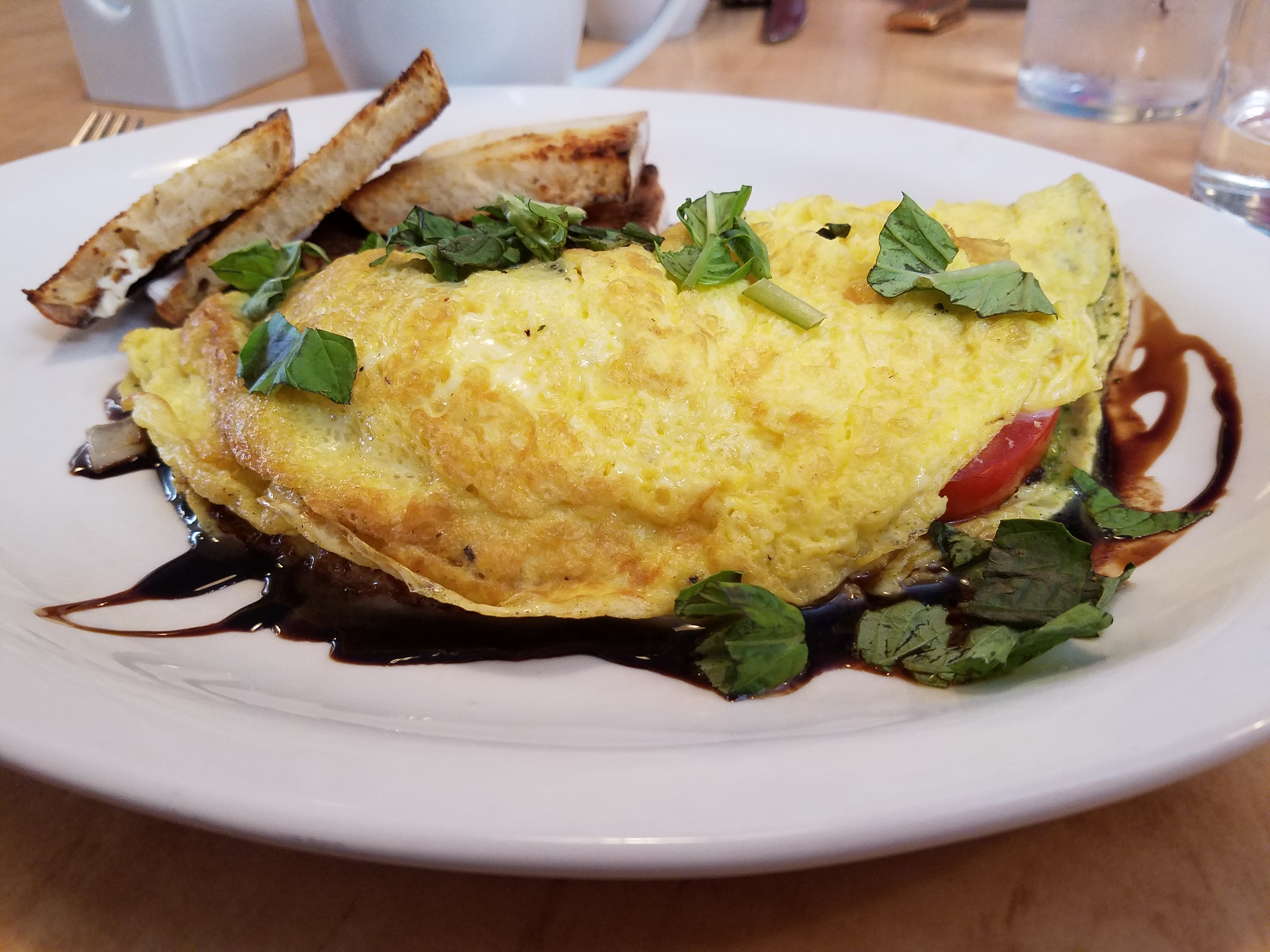 caprese omelete sweet mimis