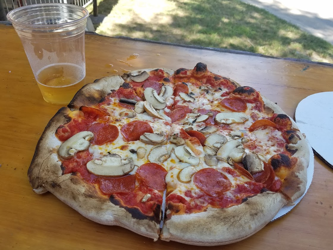 Pizza at Saratoga Race Course