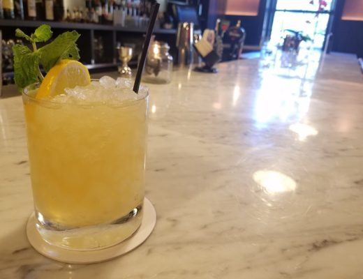 Bourbon smash at Salt & Char