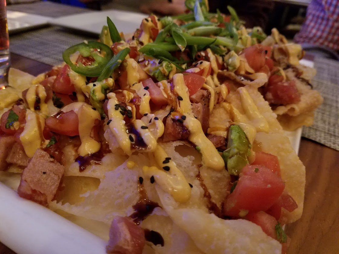 Ahi Tuna Nachos at Fish at 30 Lake